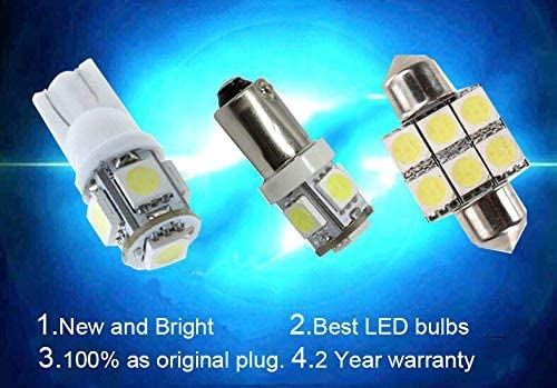 LED Bulbs For Toyota 4Runner Previa ACR30 ACR50 Reading lights,Xenon White Super Bright Error Free Canbus Car Interior Dome Map Door Courtesy License Plate Lights 10PCS