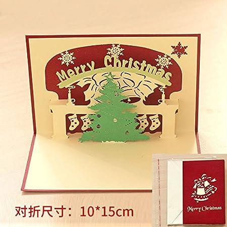 Cunguang south korea china creative 3d wind diy christmas holiday cunguang south korea china creative 3d wind diy christmas holiday wishes handmade paper card card stereo m4hsunfo
