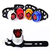 TOPSHION 2018 New 5PCS LED Aluminum Taillights High Brightness Ruby Taillights Warning Safety Helmet Lights Bike Frog Lights
