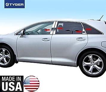 2009-2017 Toyota Venza Chrome 8Pc Pillar Post Trim Stainless Steel