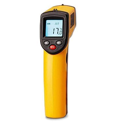 ZCCZ Manual termómetro infrarrojo sin Contacto termómetros Digital Temperatura medidor láser termómetro