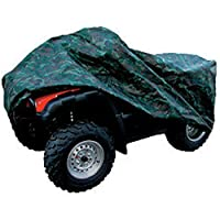 XYZCTEM Waterproof ATV Cover, Heavy Duty Canvas Protects 4 Wheeler From Snow Rain or Sun, XL Universal Size Fits Most Quads, Elastic Bottom Can Be Trailerable At High Speeds ( Camo )