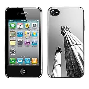 Paccase / SLIM PC / Aliminium Casa Carcasa Funda Case Cover - Architecture Ancient Rome Pillars - Apple Iphone 4 / 4S