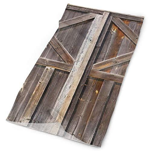 Old Wooden Barn Door Board Brown Multipurpose Head