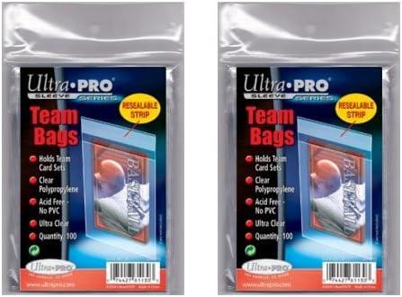 200 Ultra Pro Standard Team Bags 2 Packs von 100 neu Team Satz Menge Value Pack
