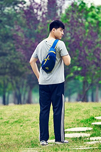 jothin Corea Versión técnicos de Casual Bolsillos Bolsa De Hombro Para Hombres Y Mujeres, hombre mujer, rosa azul marino