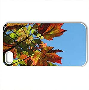 Autumn Sky - Case Cover for iPhone 4 and 4s (Forests Series, Watercolor style, White)