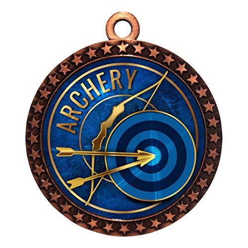 Express Medals Archery Bronze Medal Trophy Award with Neck Ribbon STDD212-EG6 1PK ()