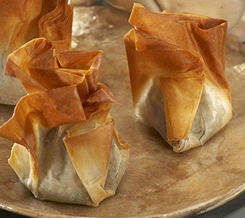 (Pear & Brie Beggars Purse - Gourmet Frozen Vegetarian Appetizers (50 Piece Tray))