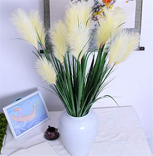 Skyseen 2PCS Artificial Onion Grass Fake Phragmites Australis Plant Faux Bulrush Home Decor
