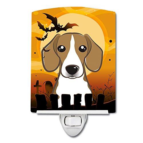Caroline's Treasures Halloween Beagle Ceramic Night Light, 6 x 4