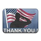 BINGO BAG American Flag With Veteran Memorial Day Indoor Outdoor Entrance Printed Rug Floor Mats Shoe Scraper Doormat For Bathroom, Kitchen, Balcony, Etc 16 X 24 Inch