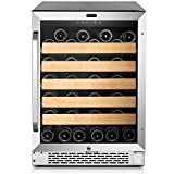 Whynter BWR-541STS 24'' Built-In 54 Bottle Wine Refrigerator Cooler, Stainless Steel