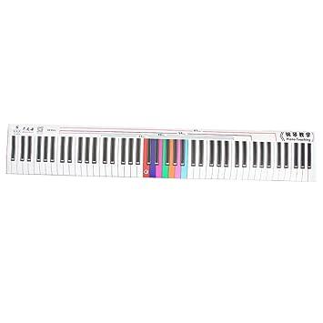 Homyl 1 Pieza Pegatina para Teclado de Piano Etiqueta de Práctica para Amantes de Música Conjunto