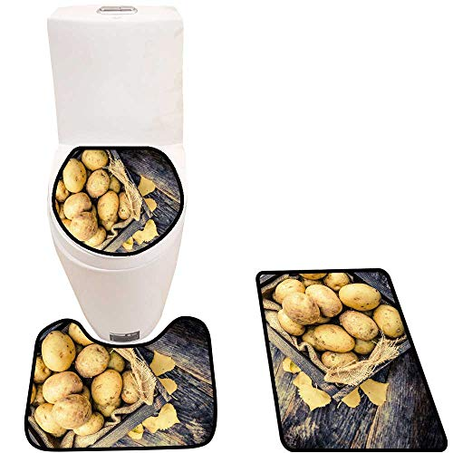 cf60a5f98ef5 Cushion Non-Slip Toilet Mat raw organicgen Potatoes in The Wooden Crate on  Age woo plaks Table Cushion Non-Slip