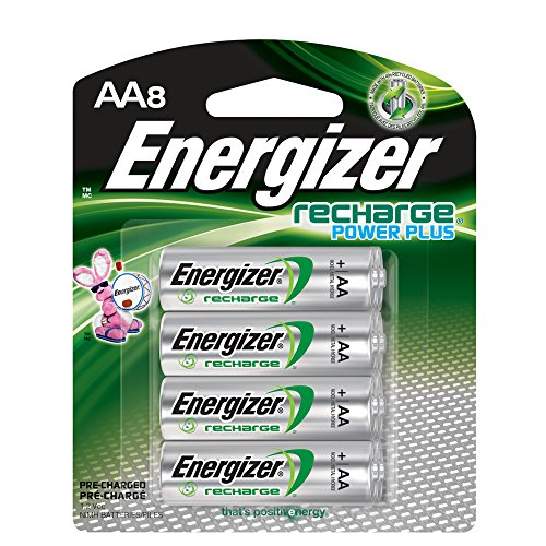 Energizer Rechargeable AA Batteries, NiMH, 2300 mAh, Pre-Charged, 8 count (Recharge Power Plus)