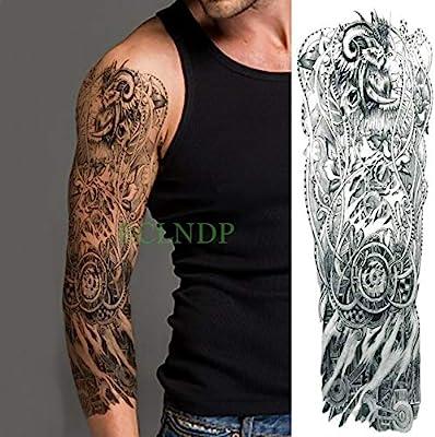 tzxdbh 5Pcs-Etiqueta engomada del Tatuaje a Prueba de Agua Cruz ...