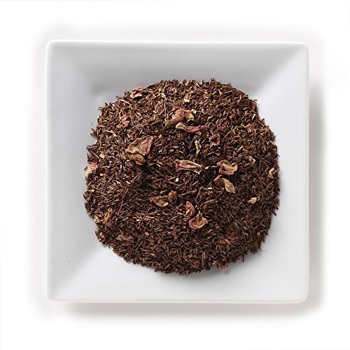 Mahamosa Raspberry Vanilla Rooibos Tea 2 oz - Loose Leaf Rooibos Herbal Tea Blend (with flavoring, freeze-dried whole raspberries, rose petals, vanilla pieces)