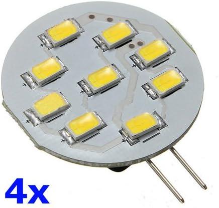 SODIAL(R) 4X G4 3W 5630 SMD 9 LED 380LM 6500K Pura bombilla blanca gabinete RV lampara 12V: Amazon.es: Iluminación