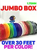 3D Pen Refills by Astronaut | PLA Filament, PLA 1.75, 3D Pen Filament | Jumbo Box, 15 Colors, Over 30 Feet Each!
