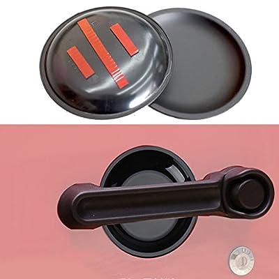 Allinoneparts Matt Black Dish Shaped Door Handle Recess Guard Inserts Accessories for Jeep Wrangler JK JKU 2007 2008 2009 2010 2011 2012 2014 2013 2014 2015 2016 2017