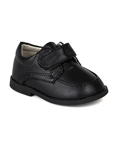 Auston AH58 Leatherette Strap School Dress Shoe (Infant   Toddler Boys) -  Black ( 33d062a5a463