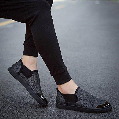 Breathable Canvas Sneaker Wohnungen Classic Schwarz Mens Herren Freizeitschuhe Schuhe Fashion XIANV Outdoor Mens 4vS5xtwq