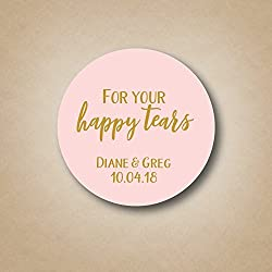 For Your Happy Tears - Wedding Tissue Labels