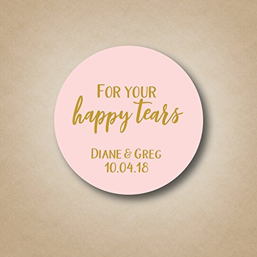 For Your Happy Tears - Wedding Tissue Labels ()
