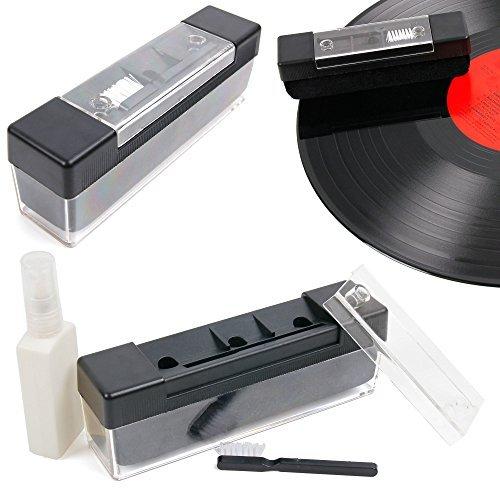 DURAGADGET FANTÁSTICO Kit/Pack Limpieza Profesional para Discos De Vinilo - Incluye Spray + Cepillo De Terciopelo + Mini Cepillo- ¡Eficacia