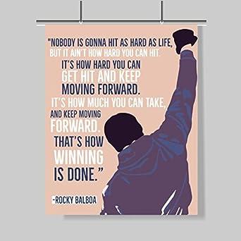 Amazon Com Rocky Balboa Cita Póster 16x20 Motivación