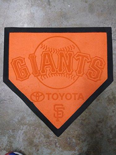 Mat San Fran Giants Orange Home Base Rug Toyota SGA Bobblehead