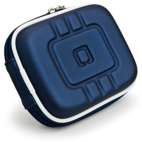 VG Compact (M) Travel Edition Semi Hard Case (Navy Blue EVA) for Canon PowerShot Point & Shoot Digital Cameras