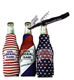 Liberal Tears 335 mL Bottle Cooler Beer Coolie - Set of Three - Stars, Stripes, Red White and Blue (1)