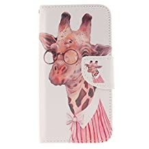 NEXCURIO [Colorful Pattern] Samsung Galaxy S6 Edge Wallet Case with Card Holder Folding Kickstand Leather Case Flip Cover for Samsung Galaxy S6 Edge (Pattern #10)