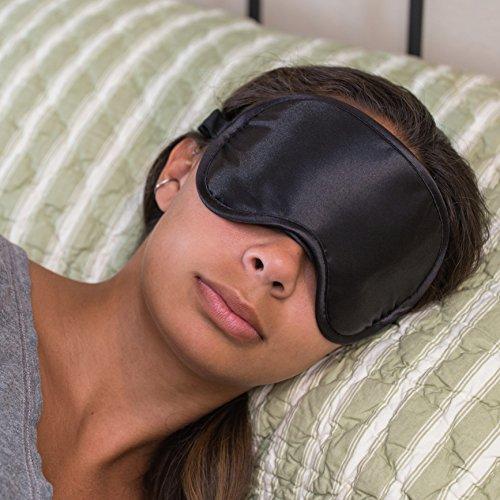 Antifaz para dormir súper suave Super sedoso con tapones para los oídos libres y lleva la caja por 40 Winks. Esta mascarilla de ojos de calidad Premium es Ultra ligero y cómodo - tiene una correa ajustable para caber todos tamaños de cabeza - dormir en cu