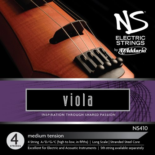 D'Addario NS Electric Viola String Set, Long Scale, Medium Tension D' Addario NS410