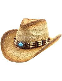 Straw Cowboy Hat for Men Cowgirl Hat for Women Western Wide Brim Hat Hats 96e743516879