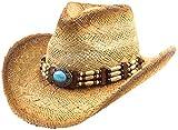 Classic Straw Cowboy Cowgirl Hat Western Outback