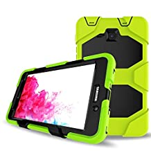 Galaxy Tab A 7.0 Case,Shockproof dust-proof hard armor Heavy Duty design with Kickstand Protective Case For Samsung Galaxy Tab A 7.0 Inch Tablet 2016 Release [SM-T280 / SM-T285] (Lime Green)