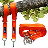 BlackBear Products Tree Swing Straps Hanging Kit 10 feet, Set of 2 - Connect to Any Swing Set or Hammock