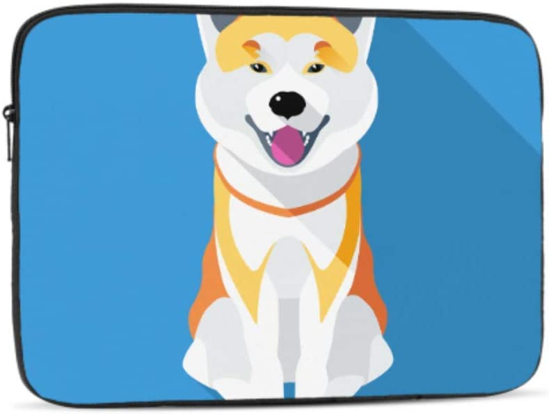 Dog Akita Inu Japanese Breed Pattern Neoprene Sleeve Pouch Case Bag for 11.6 Inch Laptop Computer Designed to Fit Any Laptop//Notebook//ultrabook//MacBook with Display Size 11.6 Inches