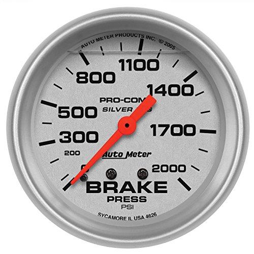 Auto meter 4626 silver lfgs brake pressure gauge