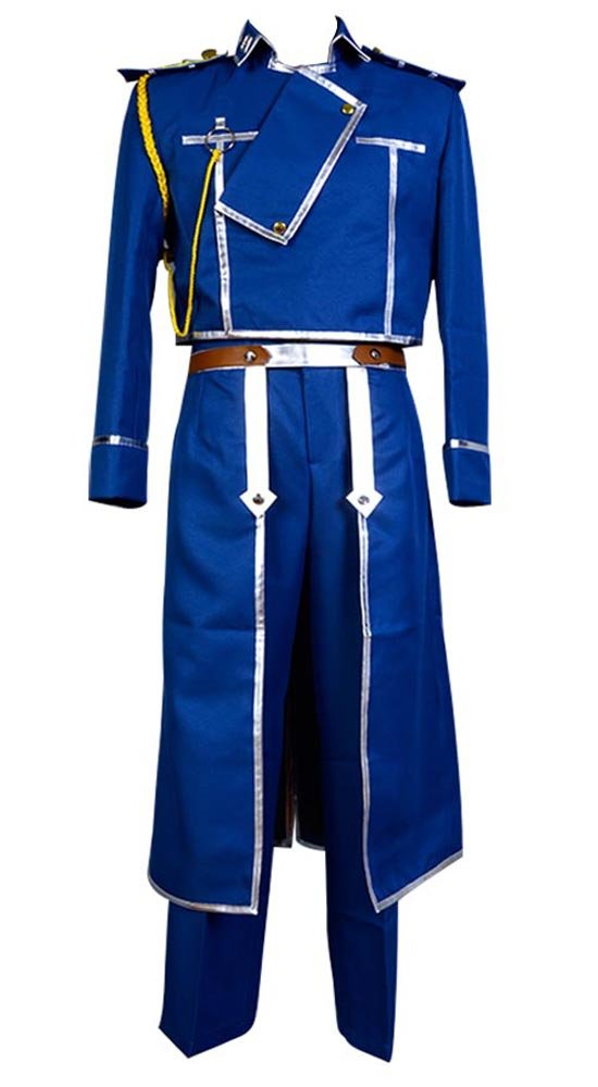 FullMetal Alchemist Cosplay Roy Mustang Uniform Cosplay Kostüm Herren M Blau L