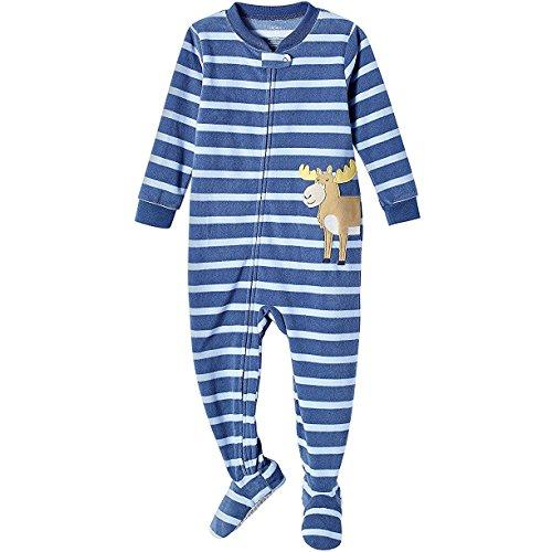 Carter's Baby Boys' 2T-4T Striped Moose Fleece Sleep and Play 3T (Striped Pajama Fleece)