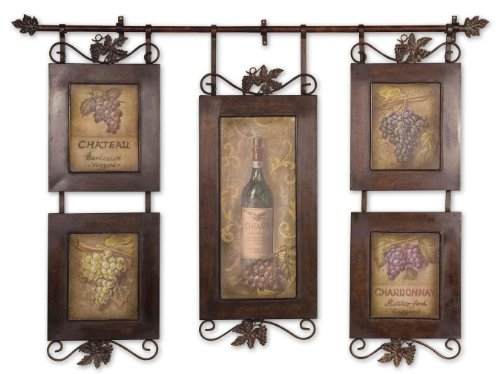 Uttermost Hanging Wine Framed Art