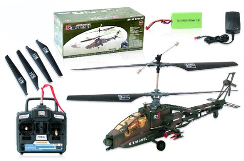 (remote control RC AH-64 Apache RTF 4 CH Electric Helicopter)
