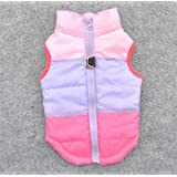 Be Good Dog Clothes Multicolored Winter Coat Warm Padded Jacket Vest Harness Soft Sweater Sleeveless Cotton Clothing for Small Boy/Girl Dog Puppy S/M/L