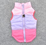 Be Good Dog Clothes Multicolored Winter Coat Warm Padded Jacket Vest Harness Soft Sweater Sleeveless Cotton Clothing for Small Boy Girl Dog Puppy M