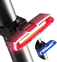 CANWAY Bike Tail Light, Reflecter Bicycle Rear Light, Ultra Bright LED Headlights,USB Rechargeable Waterproof